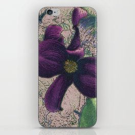 Dogwood Red-Violet on Tan iPhone Skin