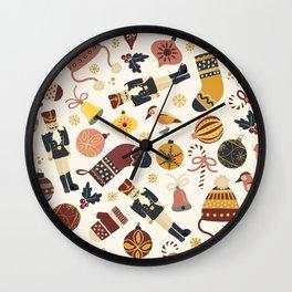 Vintage Christmas Items Wall Clock