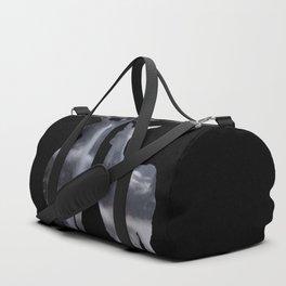 Forest deer family black pattern Duffle Bag