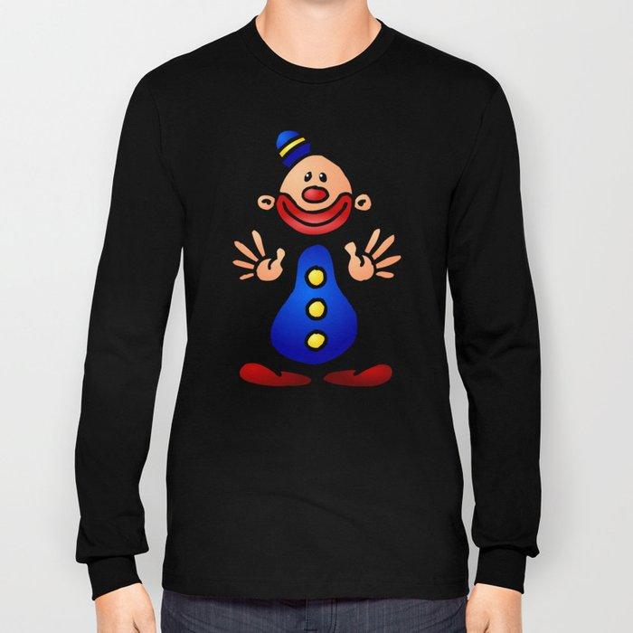 Cheerful circus clown Long Sleeve T-shirt