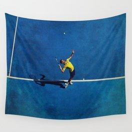 Novak Djokovic Tennis Serving Wall Tapestry