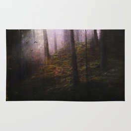 Travelling darkness Rug