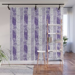 Lilac watercolor paint brushstrokes confetti stripes Wall Mural
