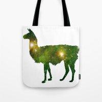 llama Tote Bags featuring Llama by Lucas de Souza