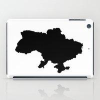 ukraine iPad Cases featuring UKRAINE SIMPLE MAP by DEAD RINGER DESIGN