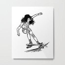 Wonder Skater Metal Print