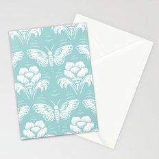 butterfly damask (seafoam) Stationery Cards