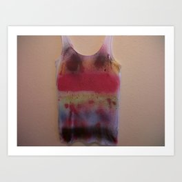Rainbow-Spray Graffiti Art Print. Art Print