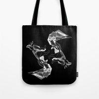literature Tote Bags featuring literature fox 1 by vasodelirium