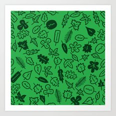 Leaves Pattern Art Print