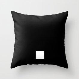 Full Stop (White & Black) Throw Pillow