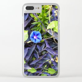 Floral Print 048 Clear iPhone Case