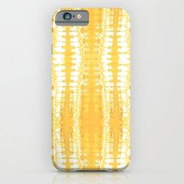 Shibori Itajime Table Yellow iPhone Case