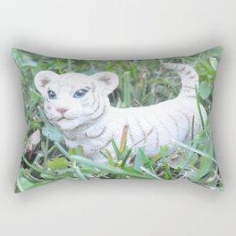 White Tiget Rectangular Pillow