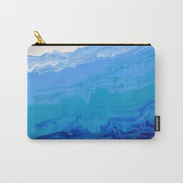 High Tide Blue Turquoise Water Fluid Abstract Carry-All Pouch
