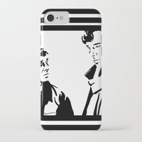 johnlock iPhone & iPod Cases featuring Simple Sherlock by gottalovedrawing