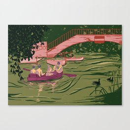 Boys on a boat Canvas Print