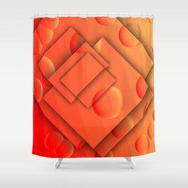 Orange Brain Shower Curtain