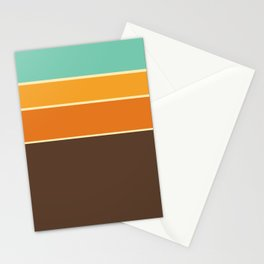70's Geometric Pattern One Stationery Cards