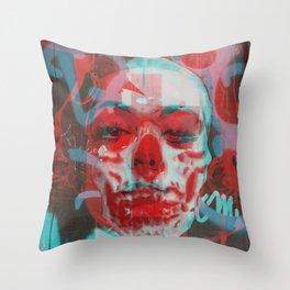 Visor interpreted solely or randomly as generous efficiency. Throw Pillow