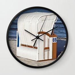 BEACH CHAIR No.69 - Baltic Sea - Isle Ruegen Wall Clock