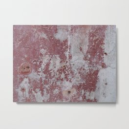 Red and White Concrete Wall Metal Print