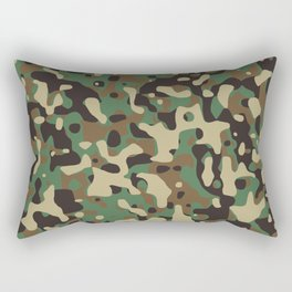 Forest camouflage pattern Rectangular Pillow