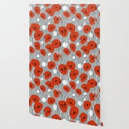 Giant poppies Wallpaper