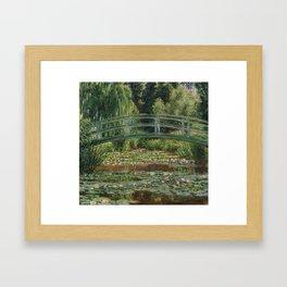 Claude Monet - Japanese Footbridge Framed Art Print