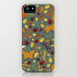 Fox In The Leaves iPhone Case