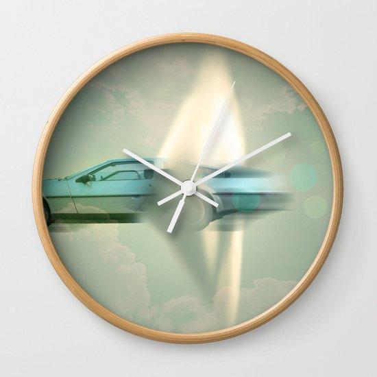 Supersonic Delorean Wall Clock