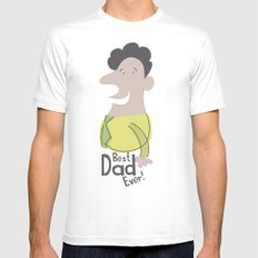 Best Dad Ever Mens Fitted Tee MEDIUM White