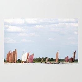 Summer sailing on Dutch Frisian lake Rug