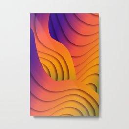 Bold Waves Metal Print