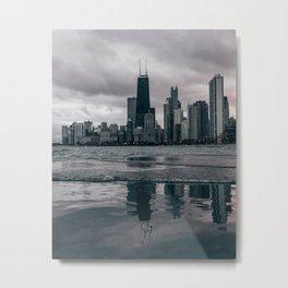Chicago Black & White Metal Print
