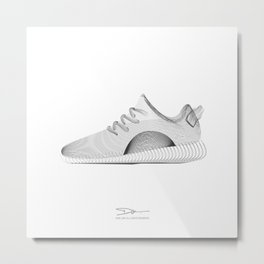 YEEZYS 350 Boost Sneakers Art Metal Print