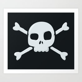 Skull and Crossbones Art Print
