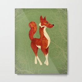 Foxing Around Metal Print