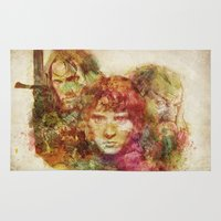 lord of the rings Area & Throw Rugs featuring The Lord of the Rings by Miriam Soriano