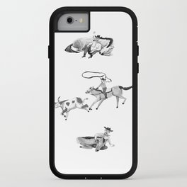 Cowboy and horse iPhone Case