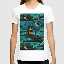 Halloween Night - Fox Fire Green T-shirt