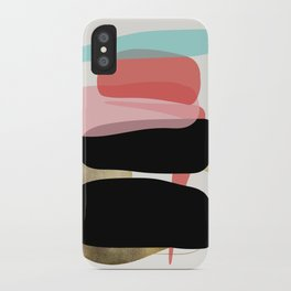 Modern minimal forms 1 iPhone Case