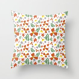 Fine Floral Foliage Throw Pillow