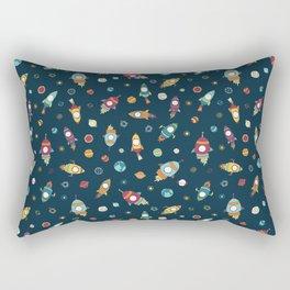 Rocket ships in space Rectangular Pillow