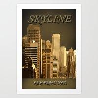 skyline Art Prints featuring skyline by Ammar ZABOUN