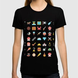 CUTE PIRATES PATTERN (PIRATE SHIP CHARACTERS) T-shirt