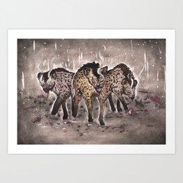 Hyena Sisters Art Print