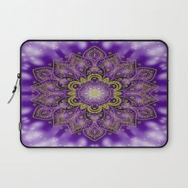 Mandala of Lights on Purple Laptop Sleeve