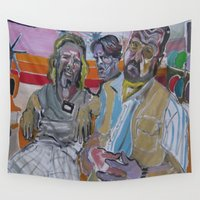 big lebowski Wall Tapestries featuring The Big Lebowski by Robert E. Richards