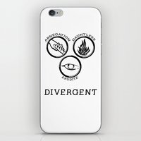 divergent iPhone & iPod Skins featuring Divergent (Black) by Lunil